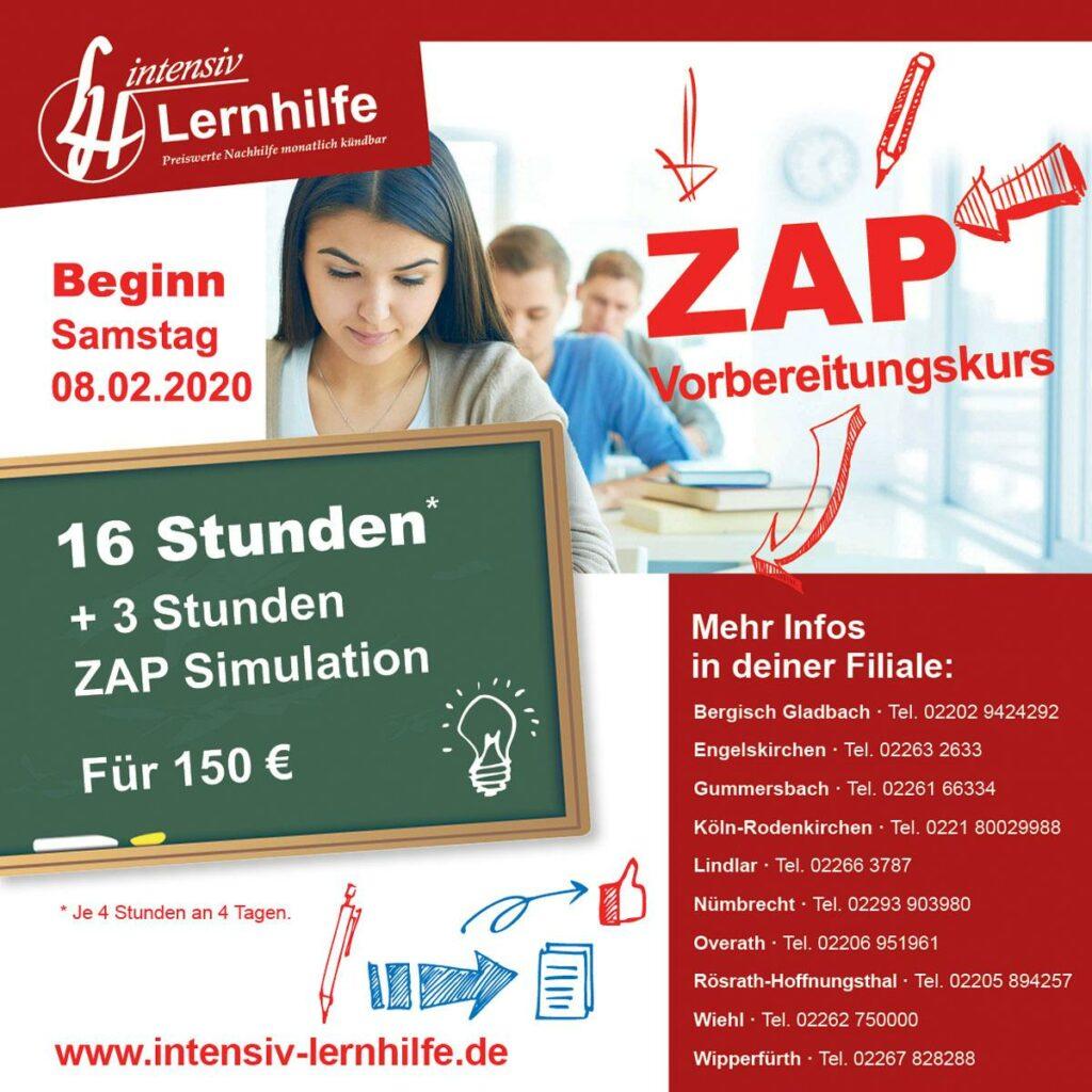 ZAP Vorbereitungskurse 2020